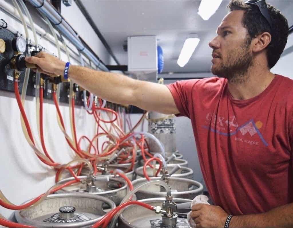 Working in a Beer Cooler