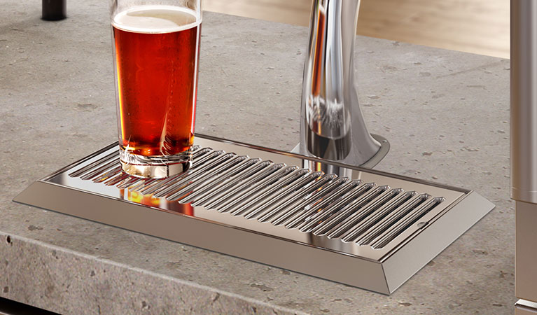 picture of a beer drip tray