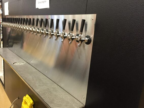 Picture of a wall mount beer system