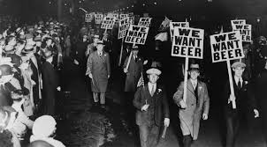 Picture of people during prohibition wanting beer