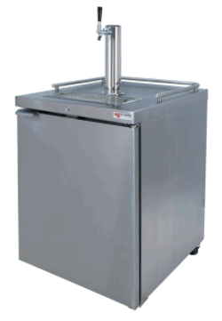 Picture of a single tap kegerator
